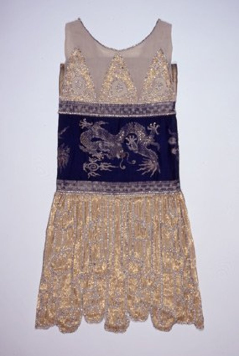 1925 Flapper style gown by Jeanne Paquin