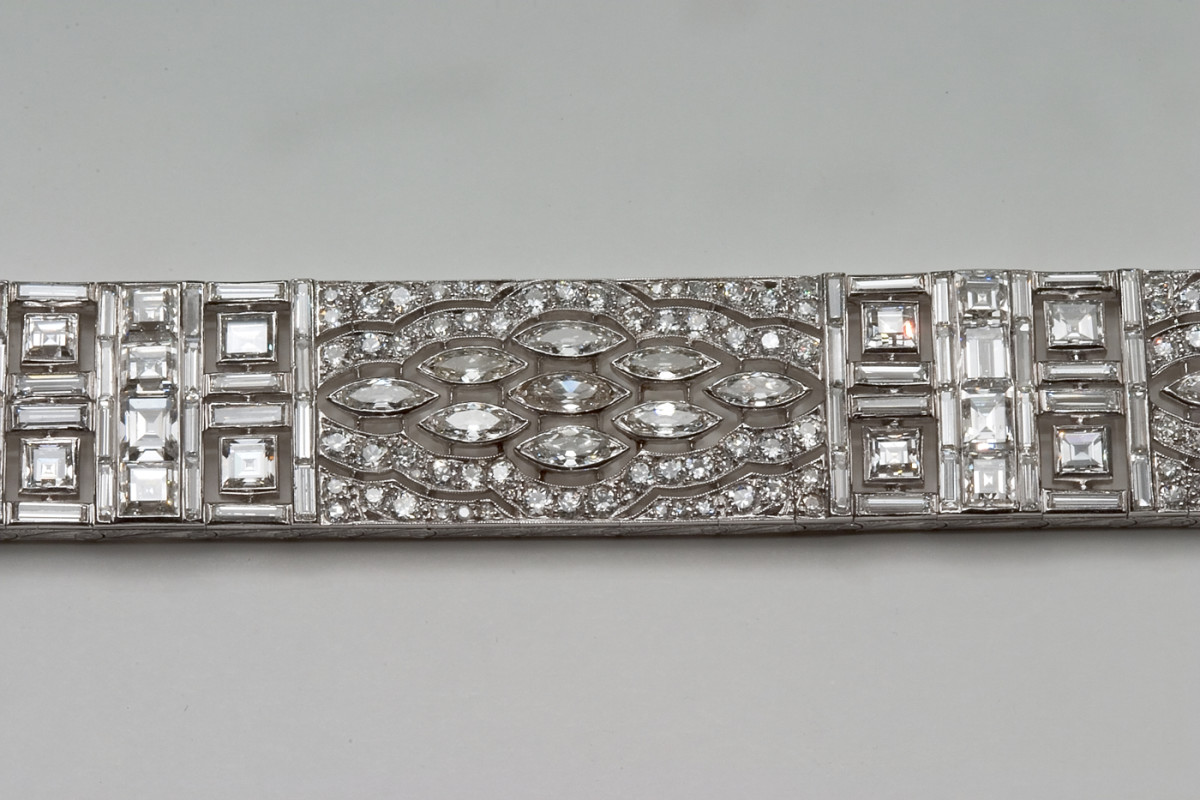 Art Deco diamond bracelet from France