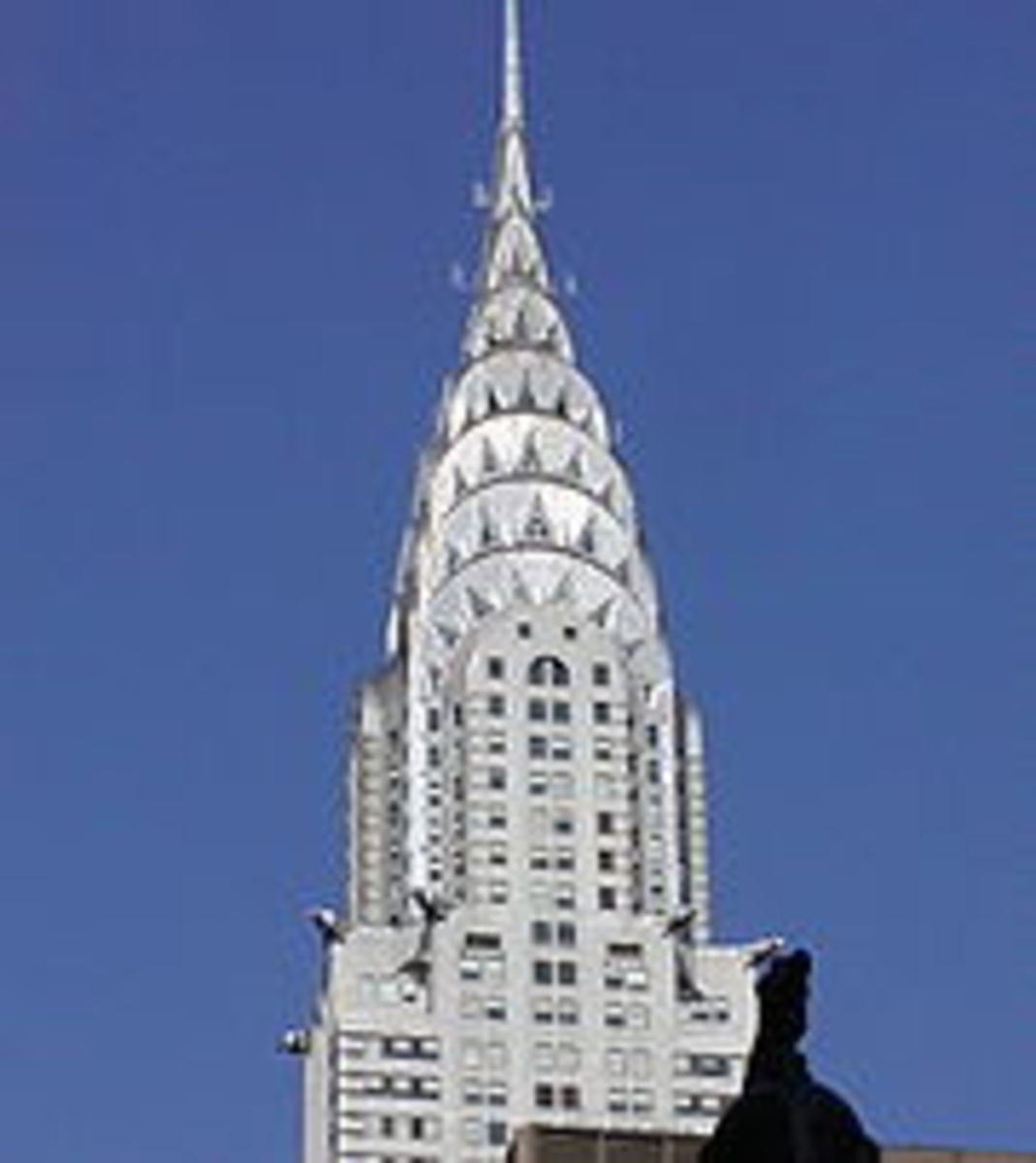 The spire of the Chrysler Building