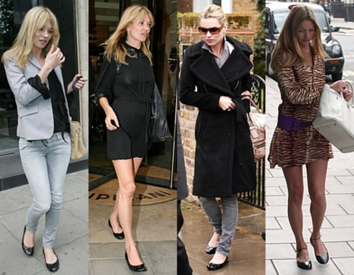 Contemporary style icons like Kate Moss love ballet flats
