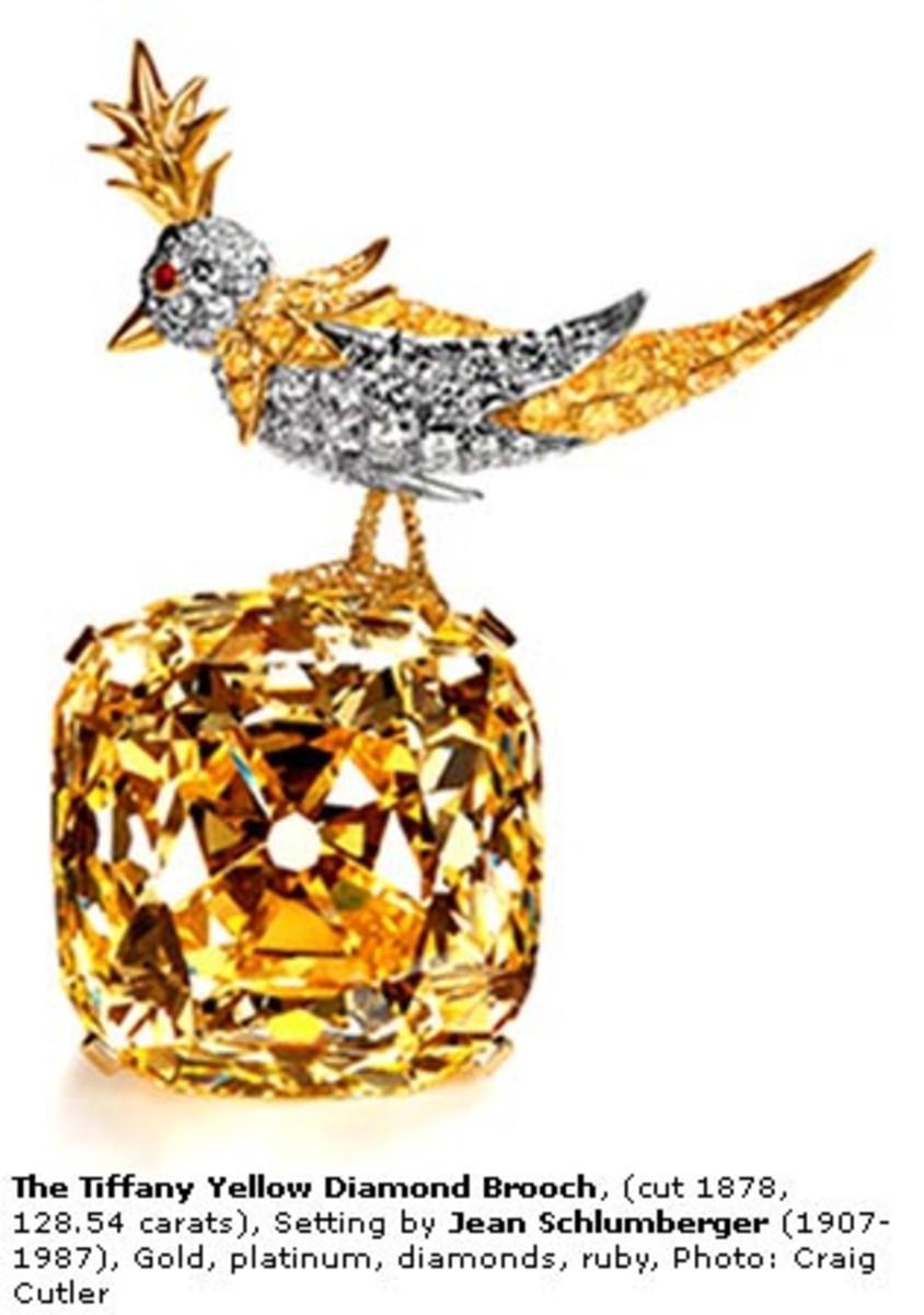 The diamond bird brooch.