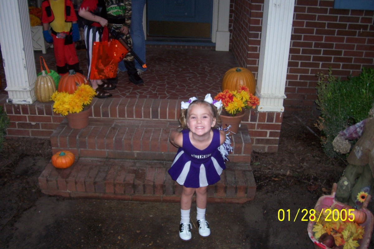 This was one of Lexi's outfits of choice. Now her younger sister, Audrie, wears it.