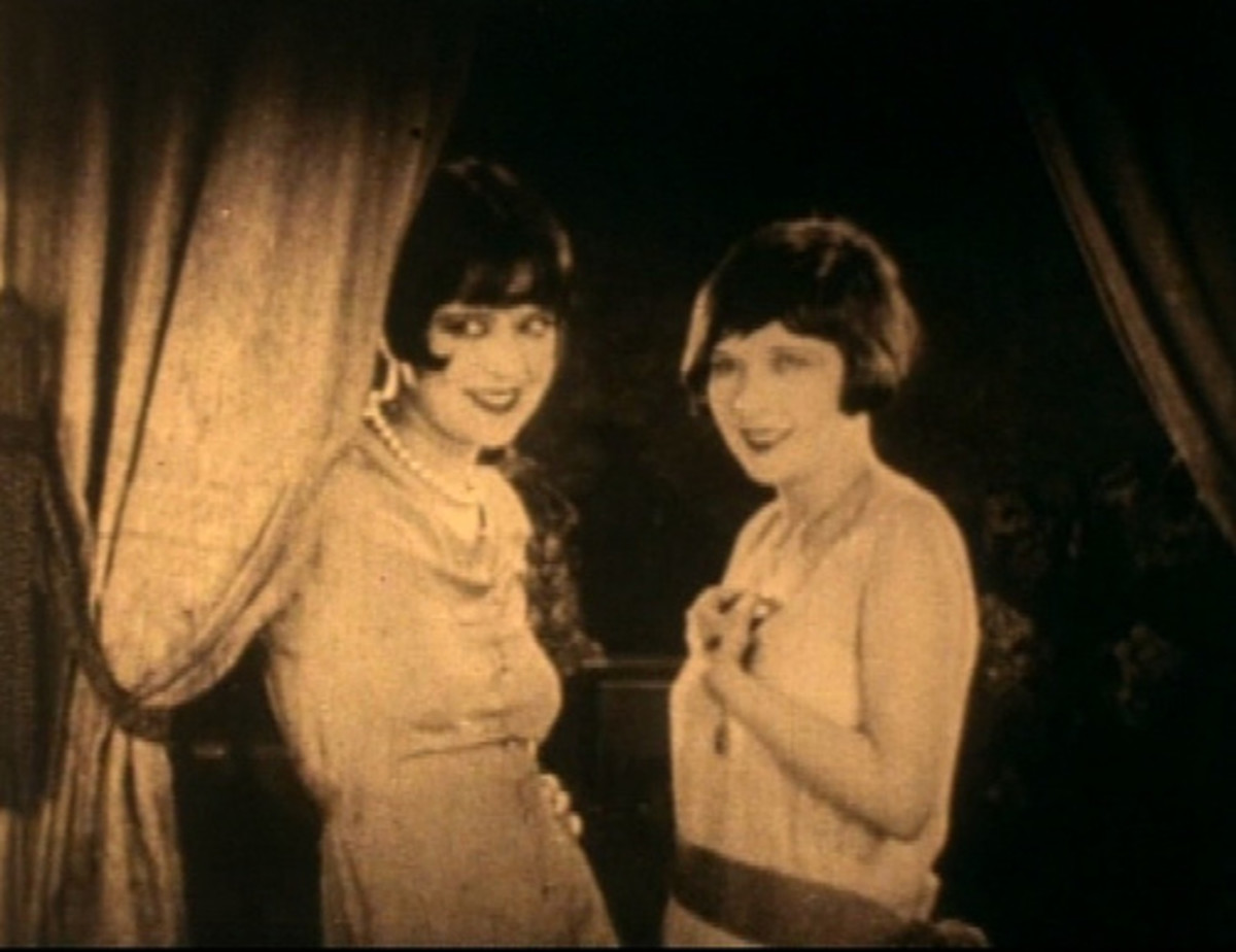 The bobbed hair and heavy eye makeup worn by flappers was bold and modern.