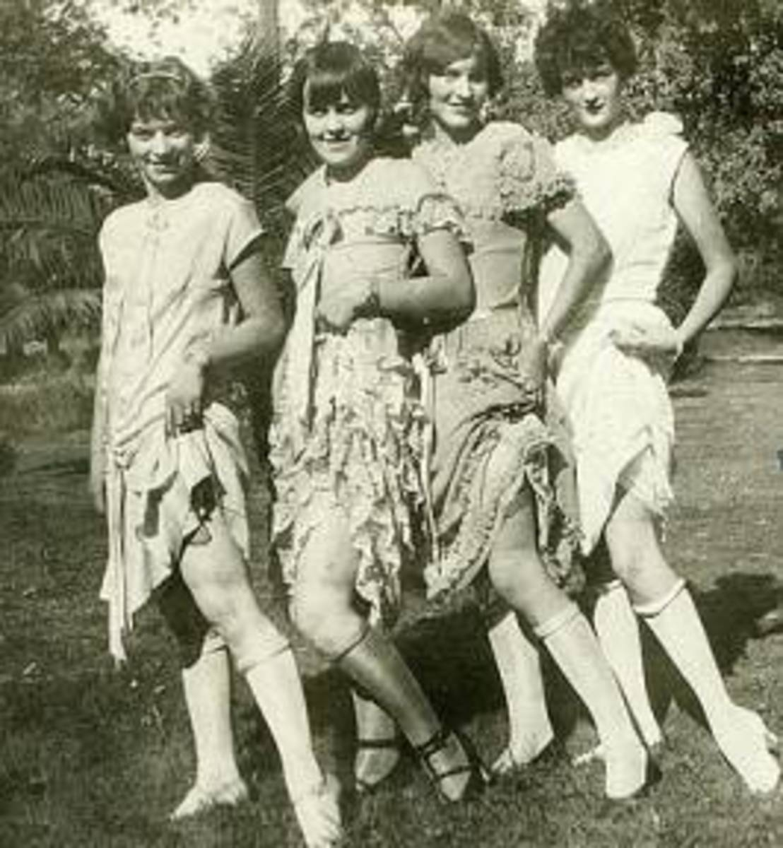 Four young ladies in the Roaring 20s