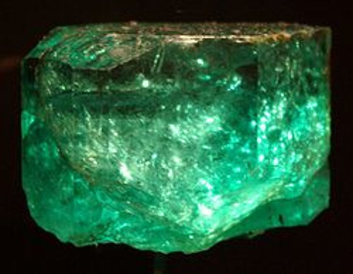 The 858 ct Gachala Emerald, one of largest gem quality emeralds in the world, was found in Colombia in 1967.