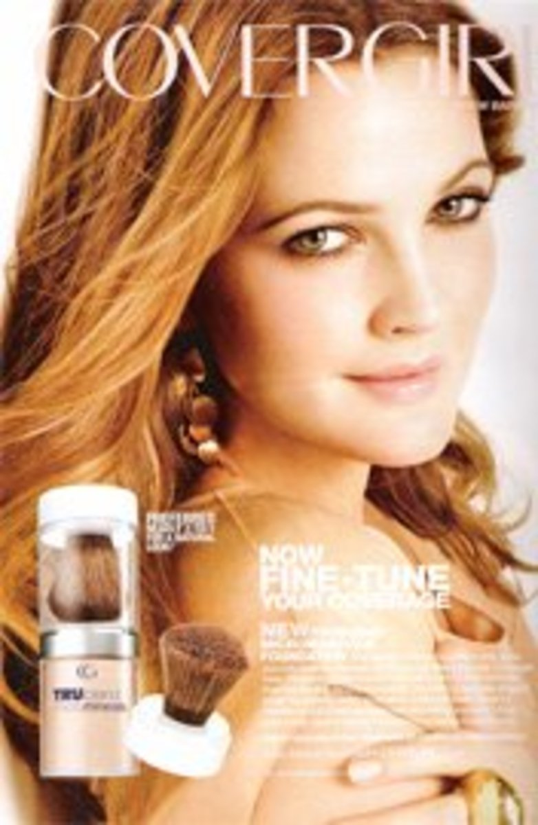 When is a CoverGirl not a cover girl? When she is an actress. Drew Barrymore is one of many actresses to get cosmetics ads and magazine covers.