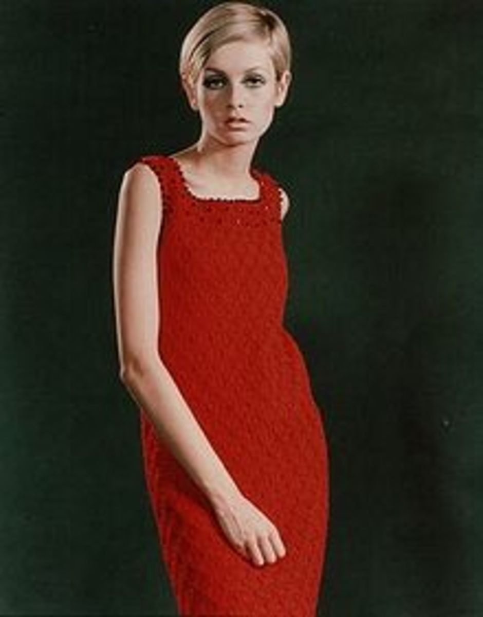 "Twiggy, the ""it"" model of the late 1960s"