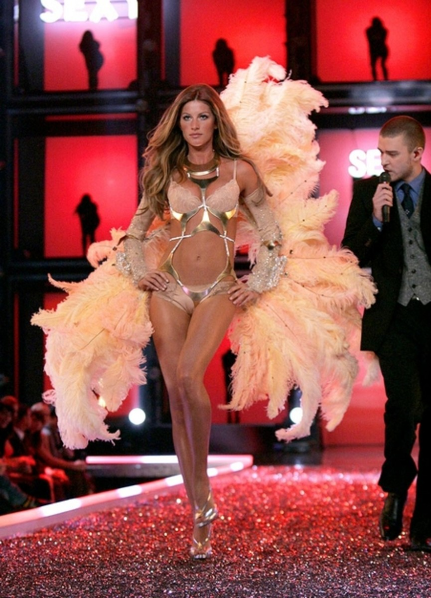 "Gisele Bundchen, a Victoria's Secret ""Angel"" is one of few current supermodels"