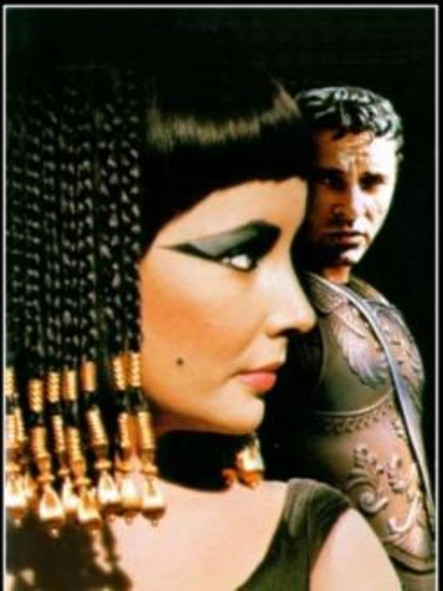 Cleopatra's ceremonial hairdo, sported by Liz Taylor.