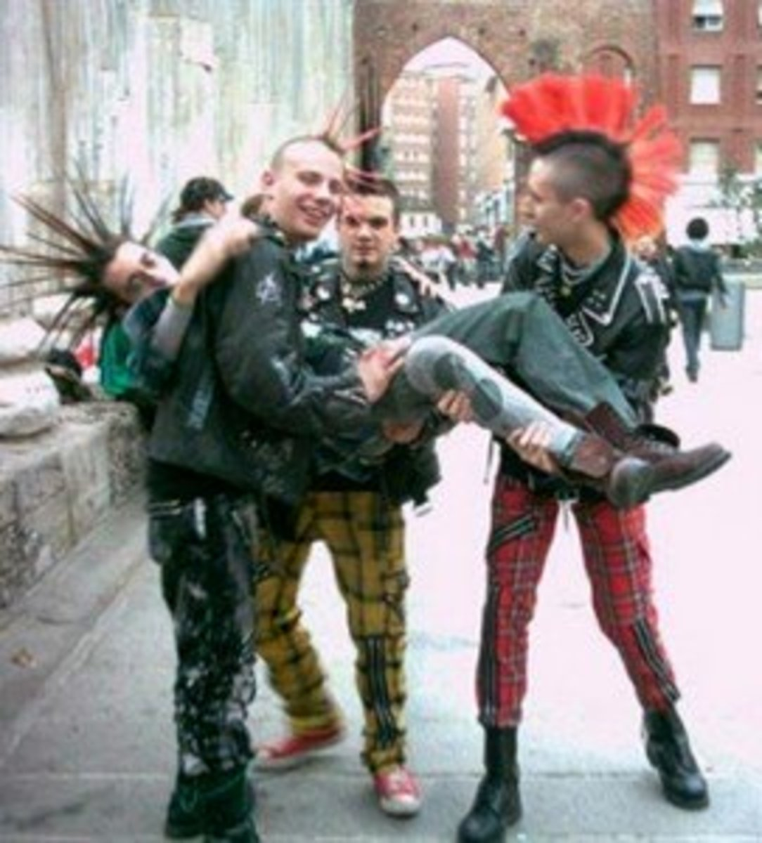 The rebellious punk hairstyles which originated in the 1970s were inspired by Mohawk tribal hair.