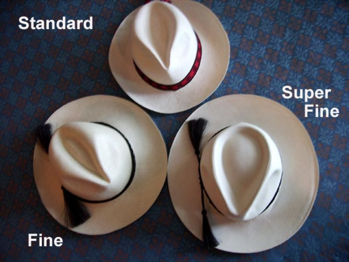 Various weaves for Panama hats.