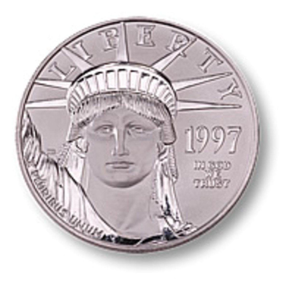 The platinum American Eagle coin.