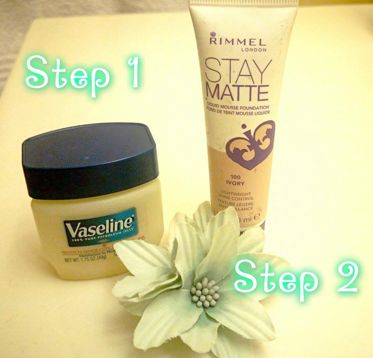 Vaseline helps your foundation look natural like no primer ever could.