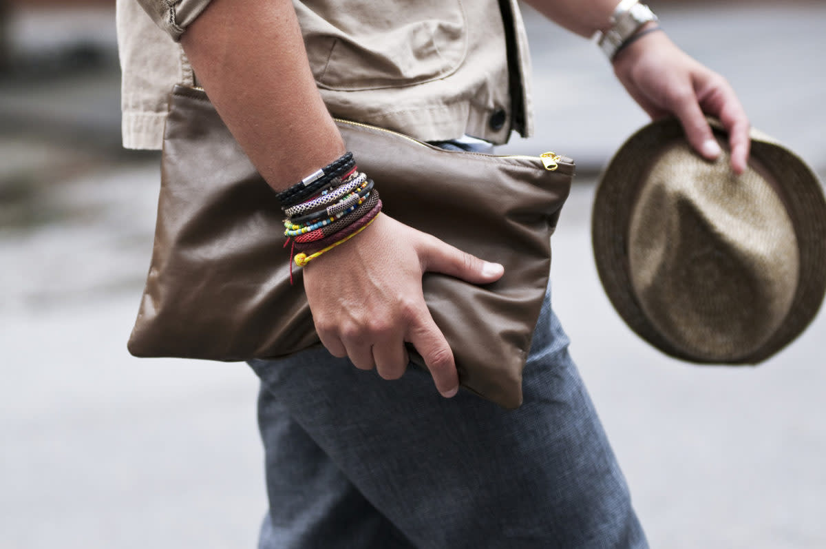 Men have a variety of accessories