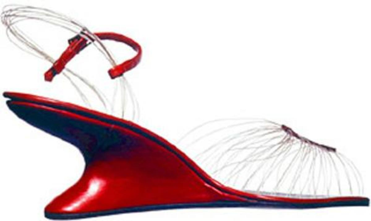 """The award winning """"invisible sandal"""" debuted in 1947."""
