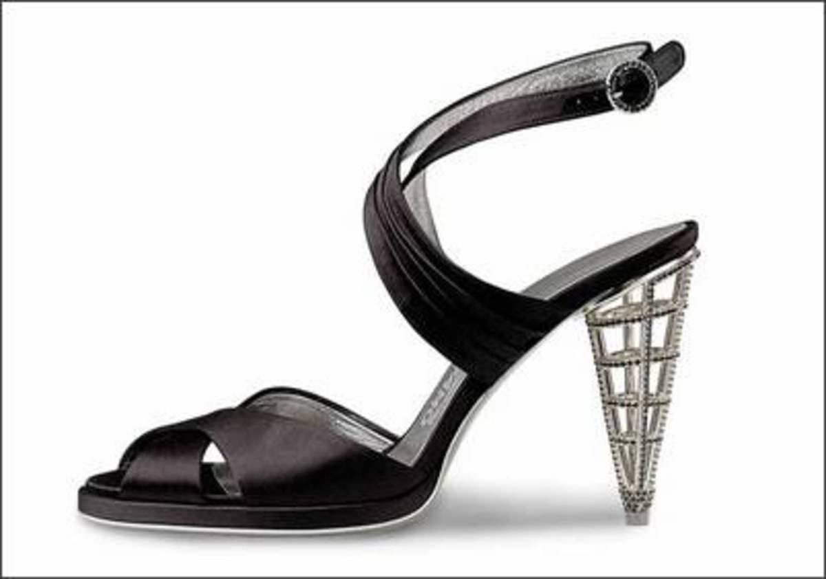"The remarkable ""cage heel"" created by Salvatore Ferragamo."