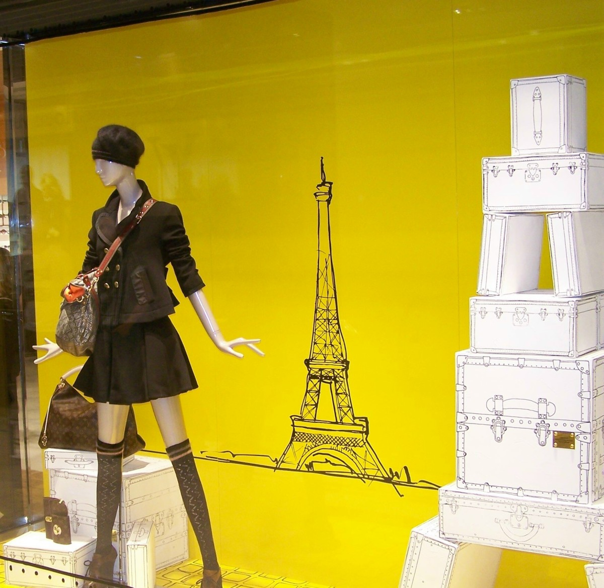 a window display in Paris