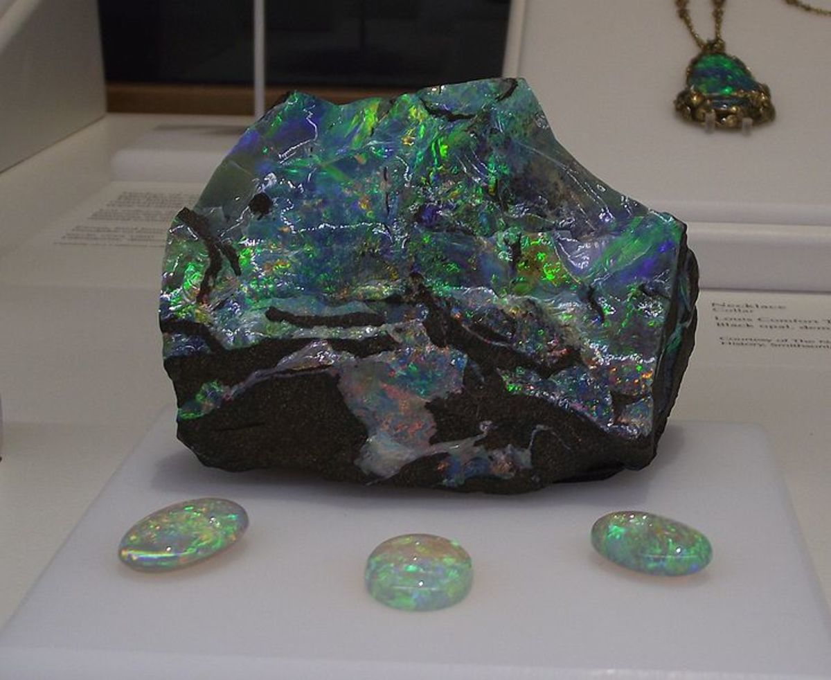 A boulder opal. Opals are so beautiful and amazing, in my opinion.  I love them.