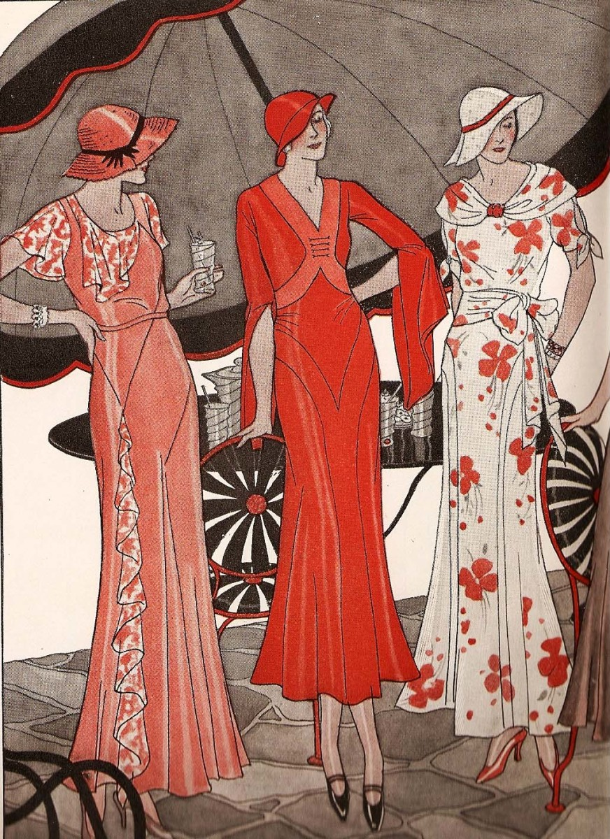 1930s 1930 ladies 1932 history designs clothing dresses dress clothes patterns hollywood fashions depression authentic womens glamour 1920s fabric hubpages