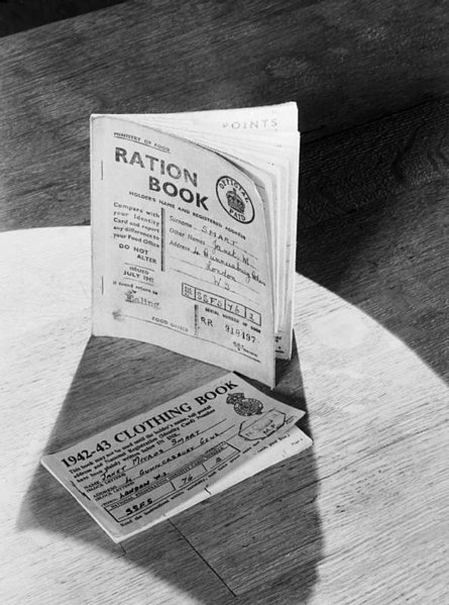 Rationing Coupon Books from the United Kingdom