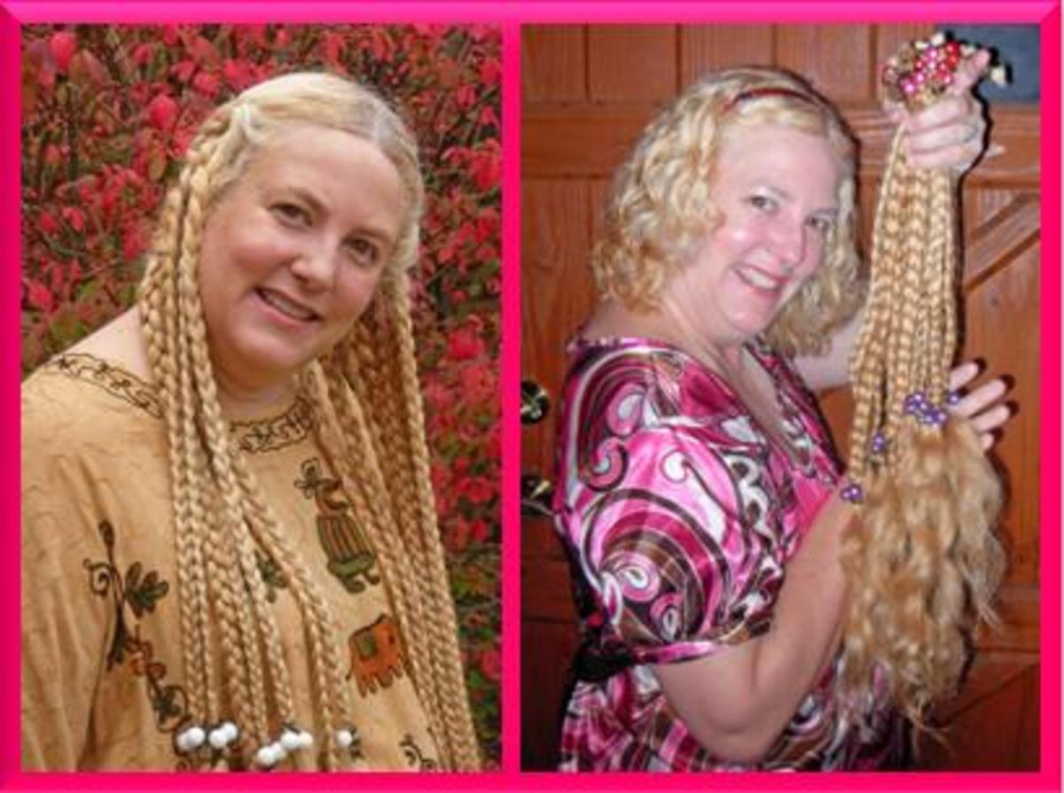 Before and after picture. I had given 24 inches of hair to Locks of Love in January of 2010.