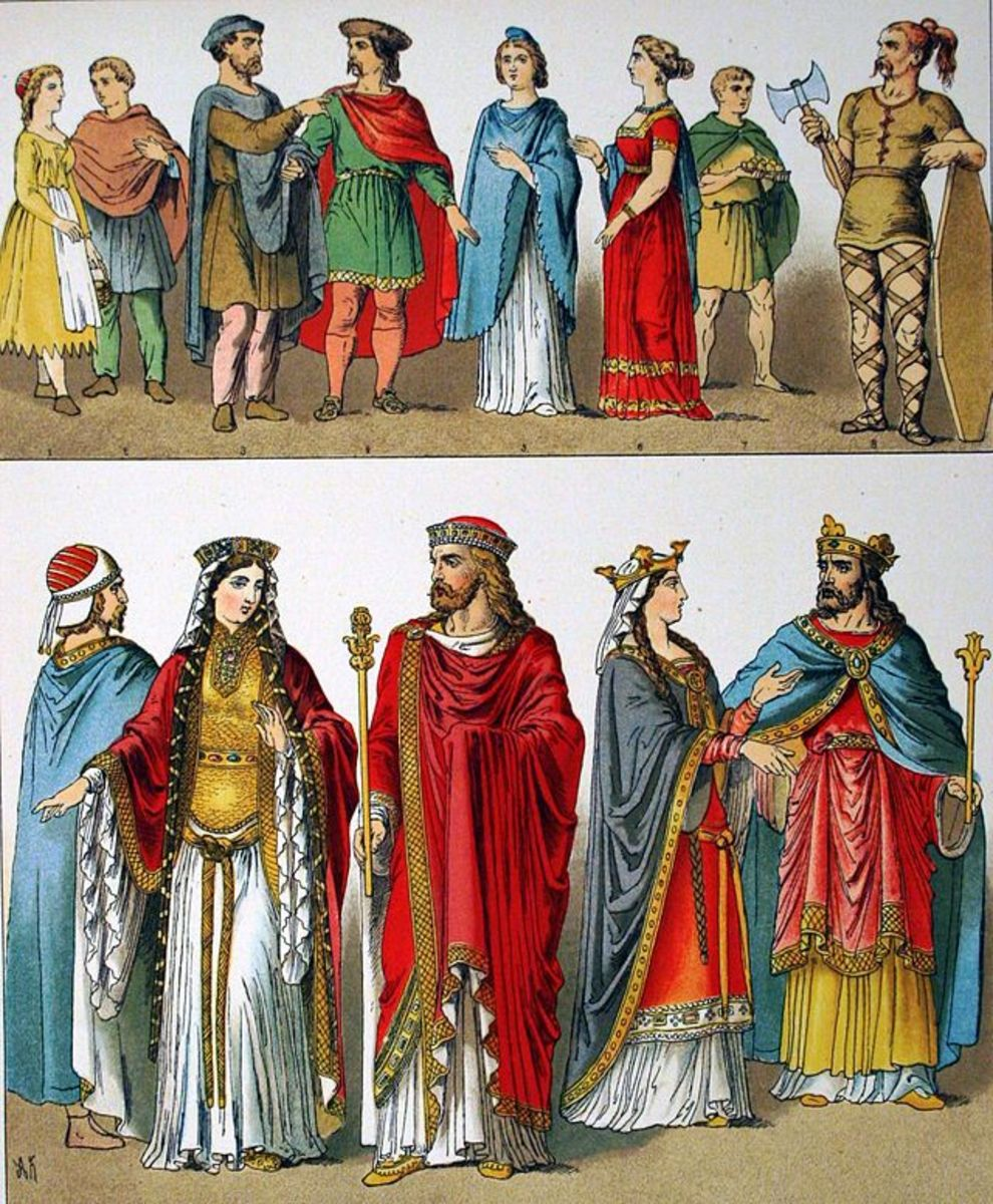 "Franks circa 400–600 AD. From the 1882 book ""Costumes of All Nations."""