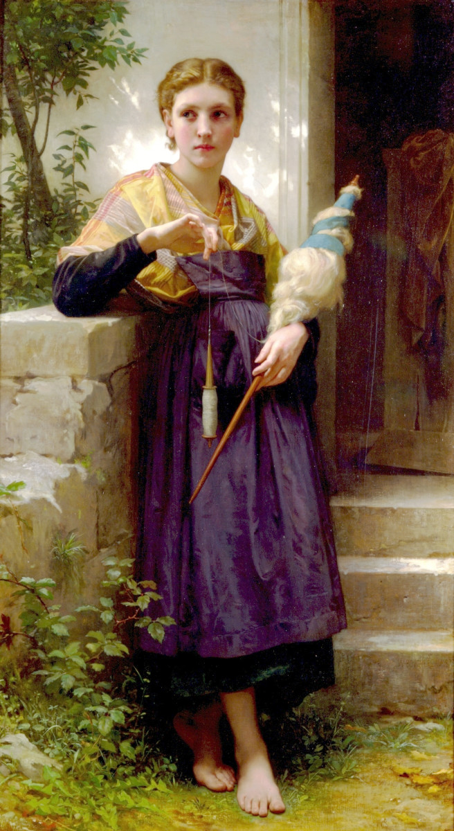 Woman With Spindle and Distaff