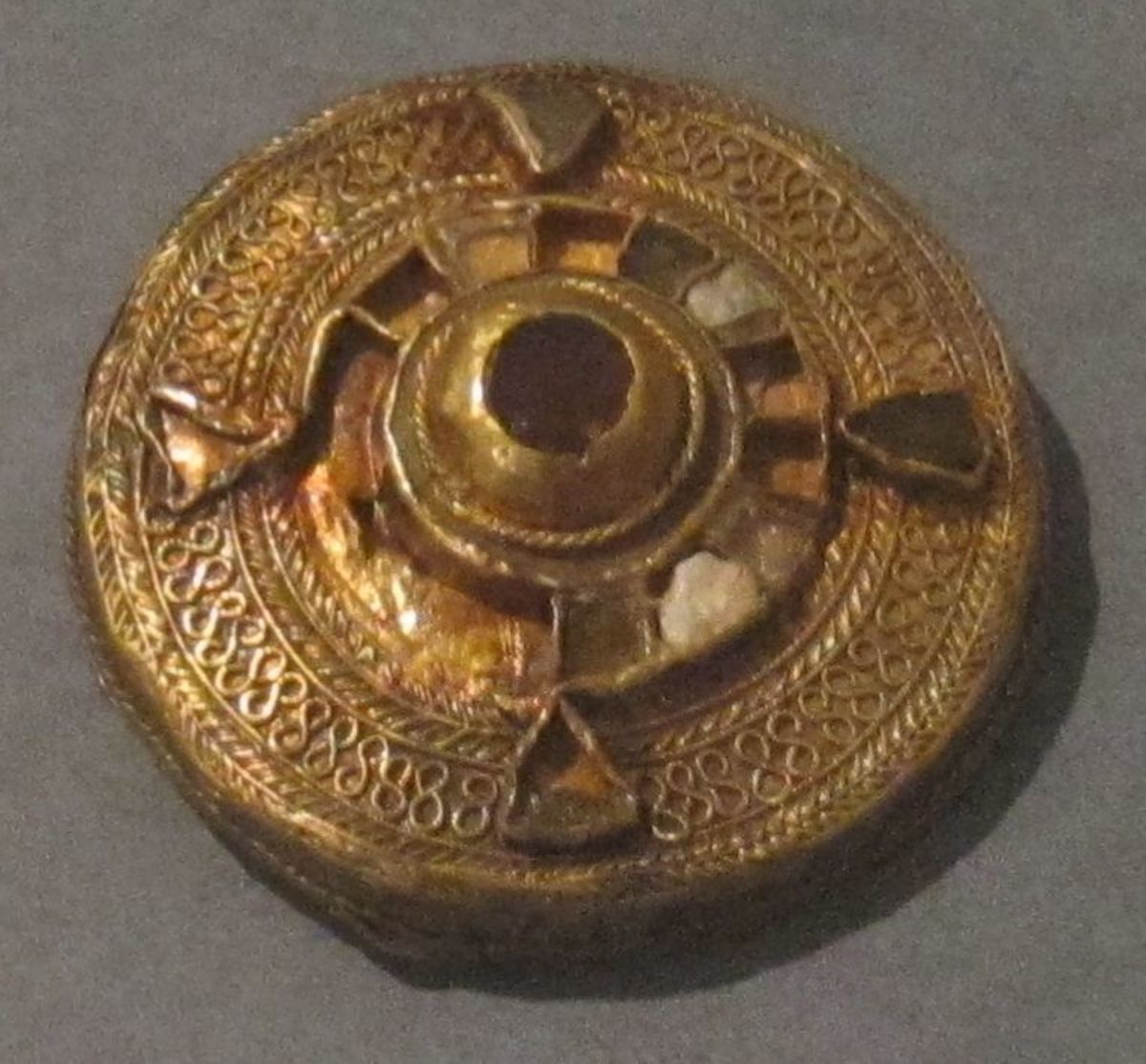 Early Middle Ages/Dark Ages garment brooch from between 400–700 CE.