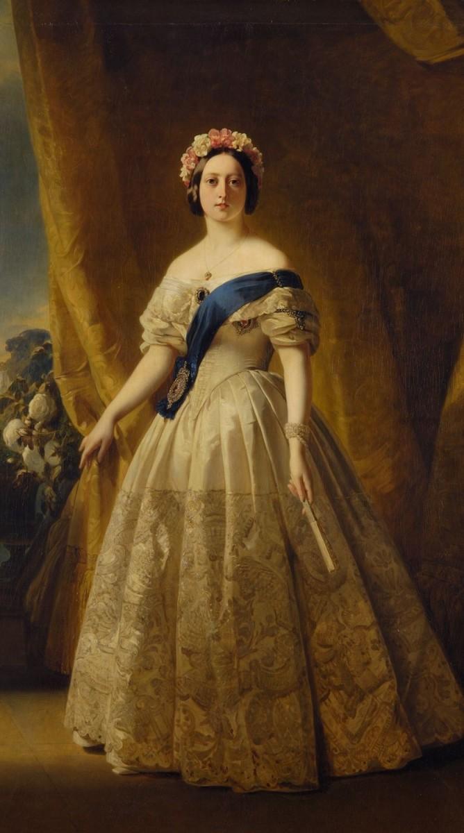 Queen Victoria 1845 – Portrait by Franz Xaver Winterhalter