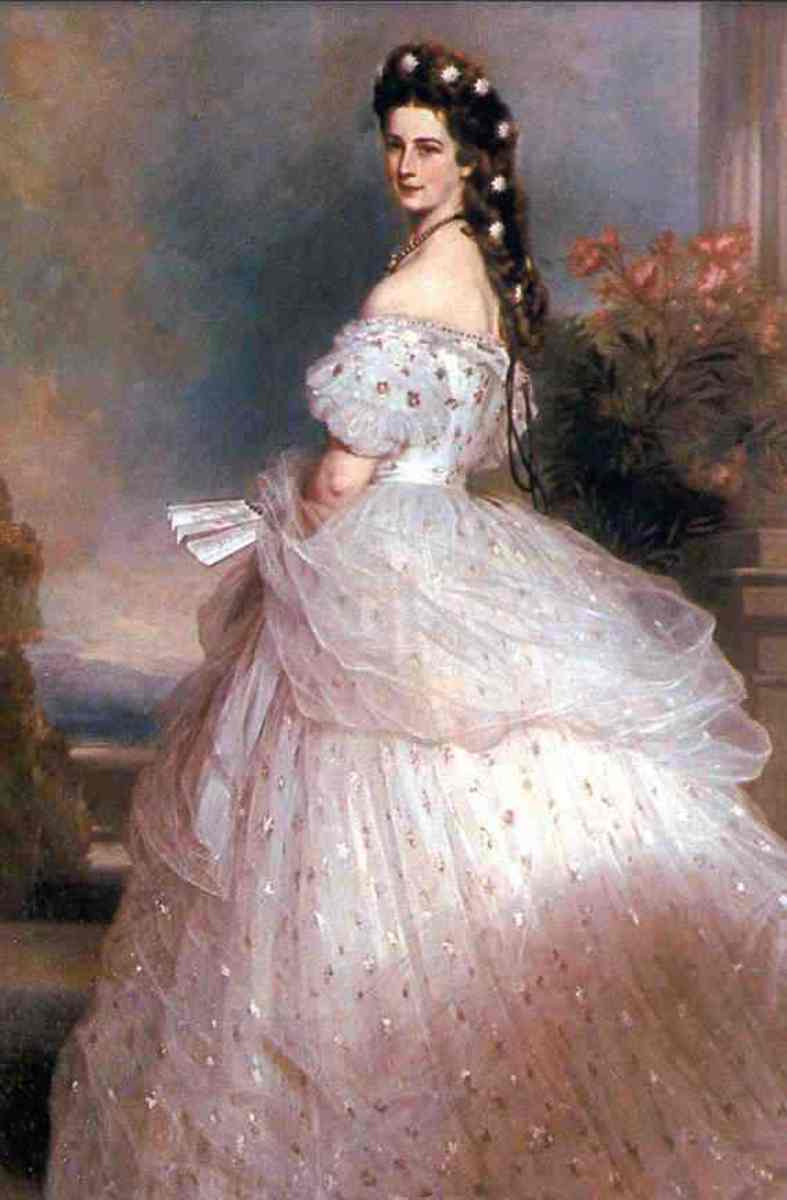 Empress Elisabeth of Austria in 1865;Oil painting by Franz Xaver Winterhalter
