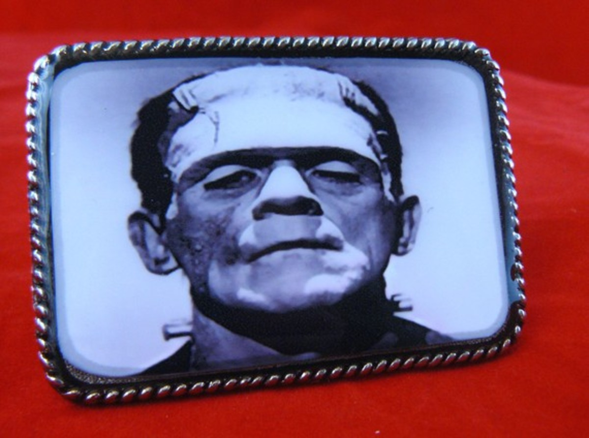 Frankenstein's Monster Belt Buckler for $24.00 by Whiskey Darling on etsy.com.