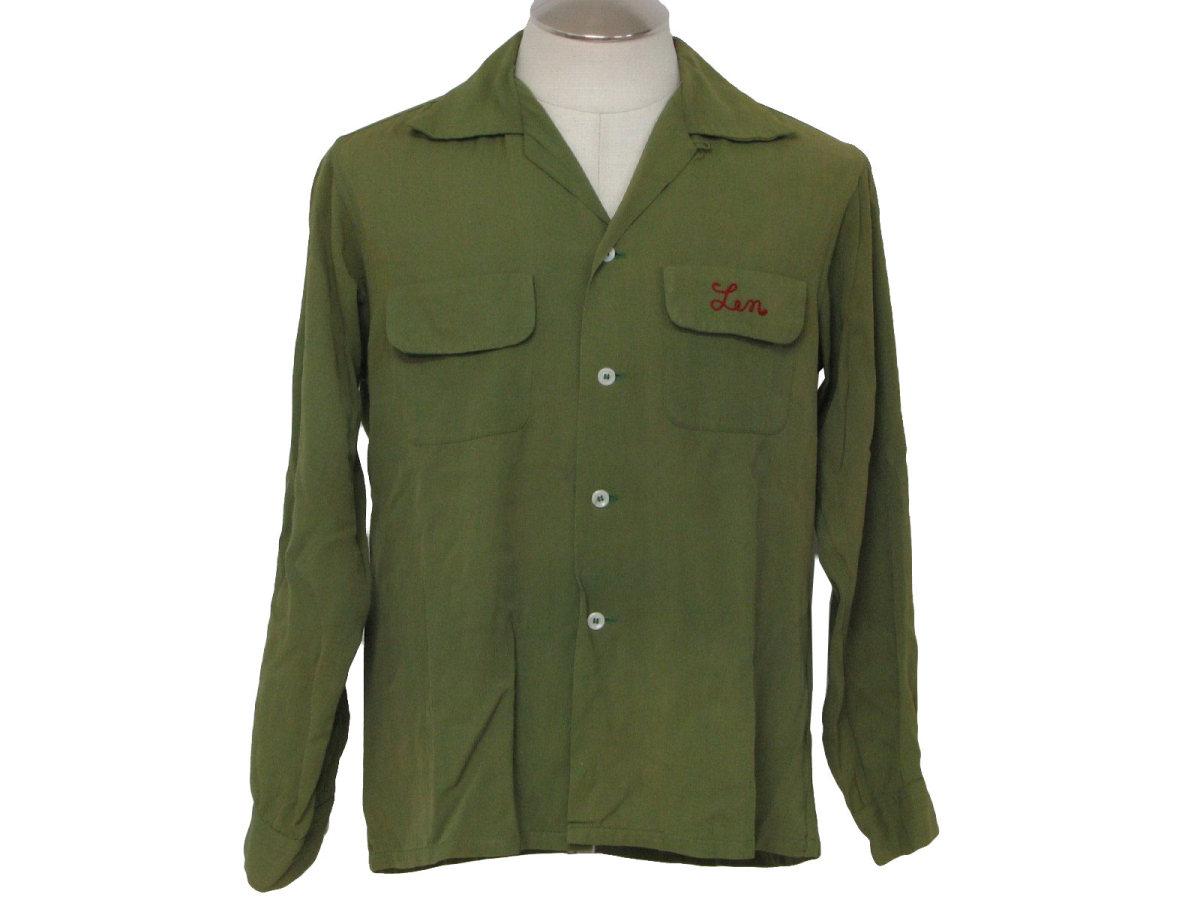 Vintage '40s bowling shirt at rustyzipper.com.