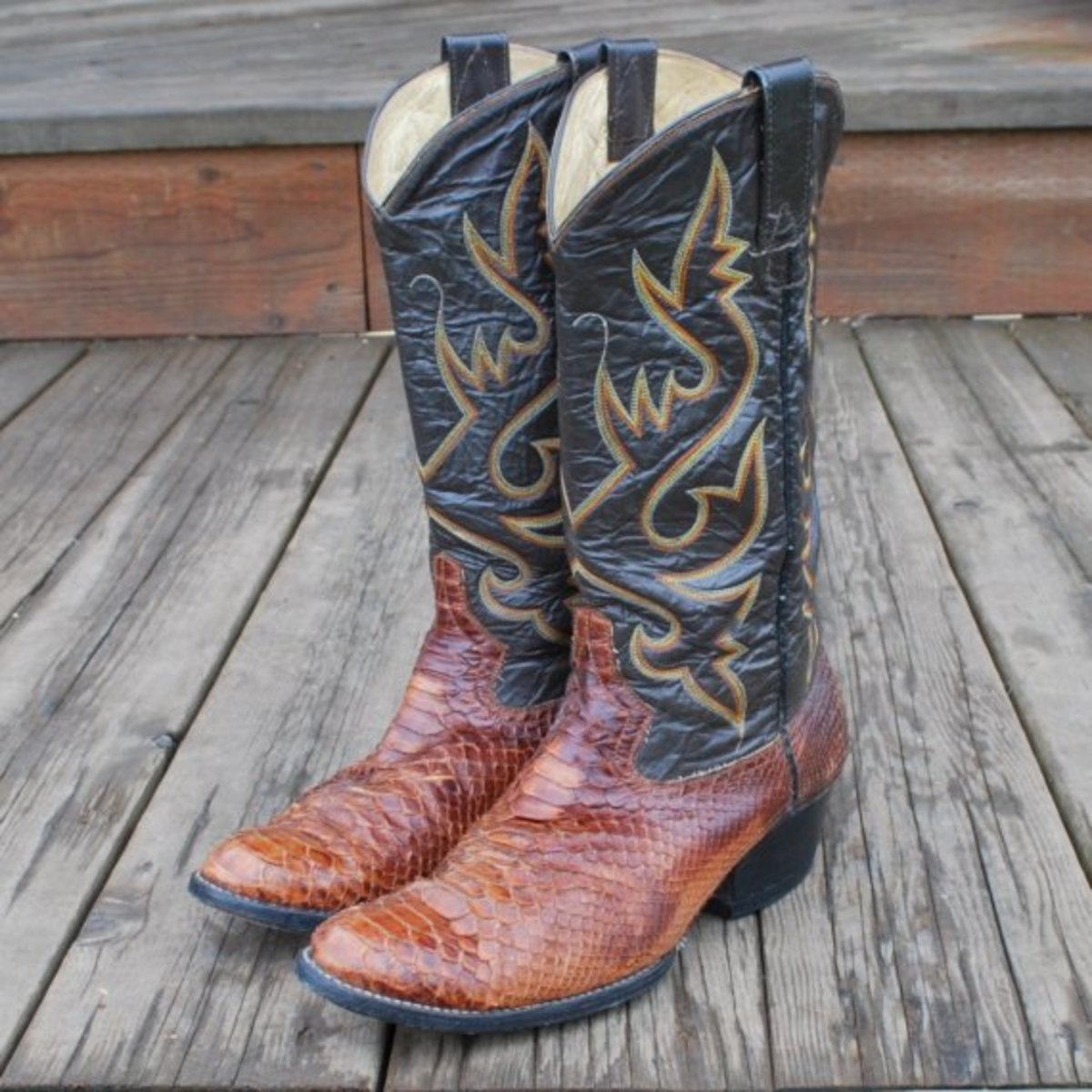 Vintage Men's Reptile Cowboy Boots on etsy.com.