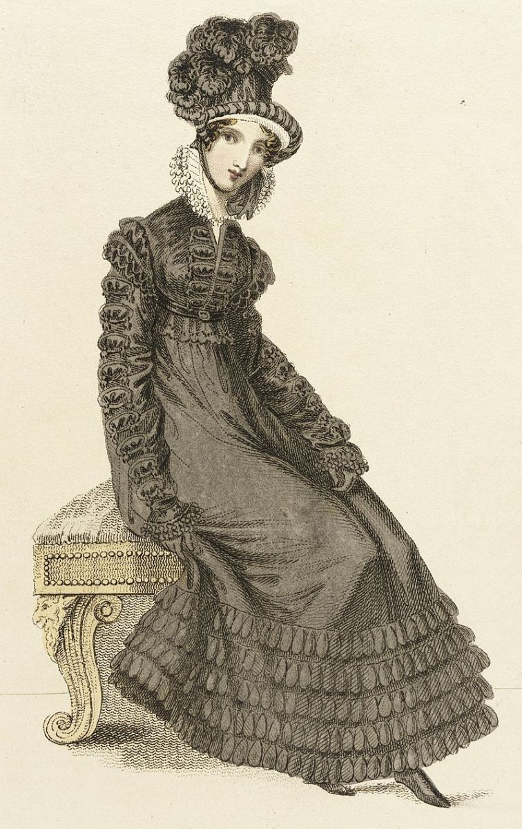 Walking dress circa 1820