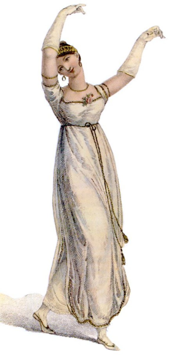 Regency costume - dancing dress 1809