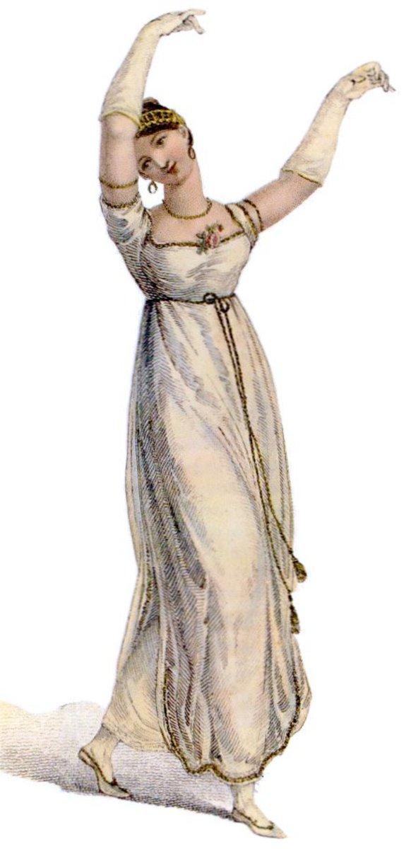 Regency costume - dancing dress 1809