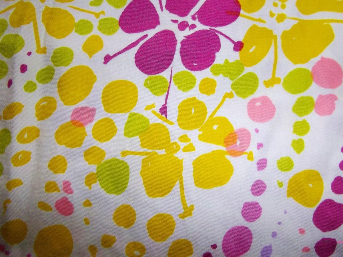 Vintage floral fabric.