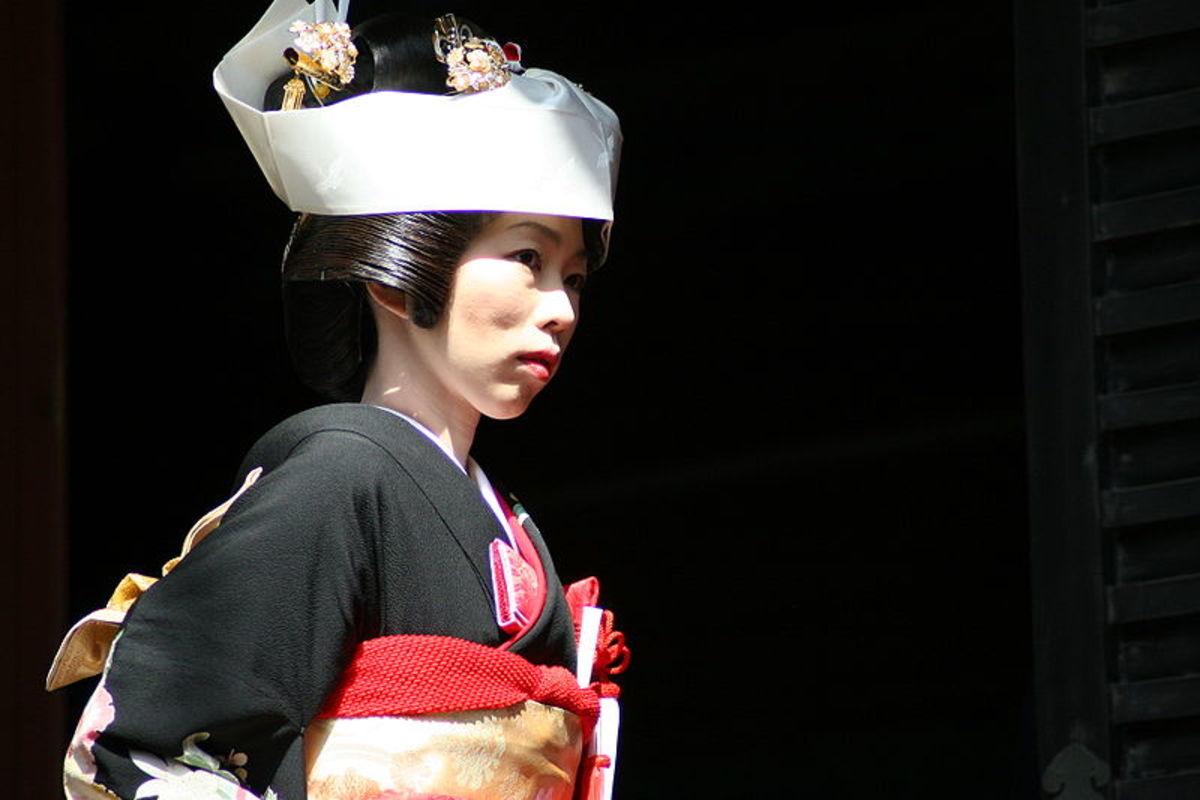 A Shinto bride at Tsurugaoka Hachimangu