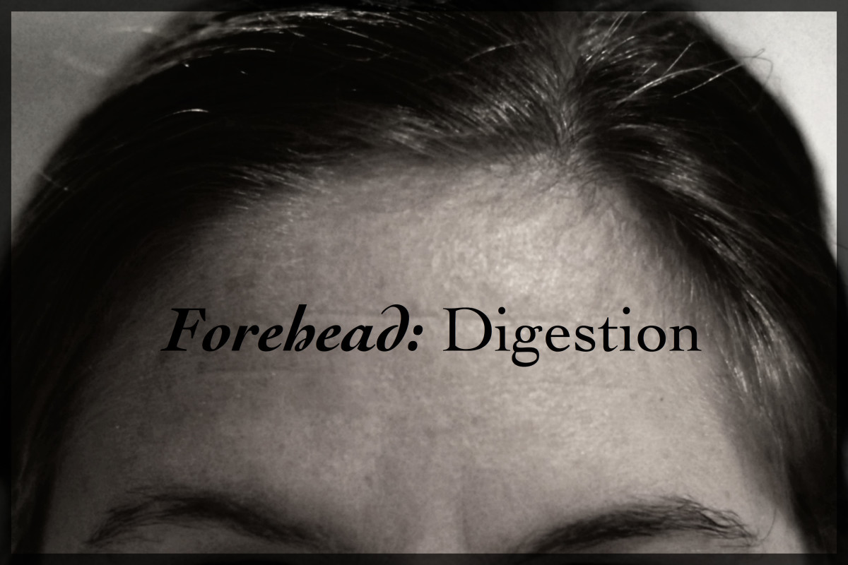 Repeated acne breakouts on the forehead can be a sign of toxin build-up, poor digestion, and dehydration.