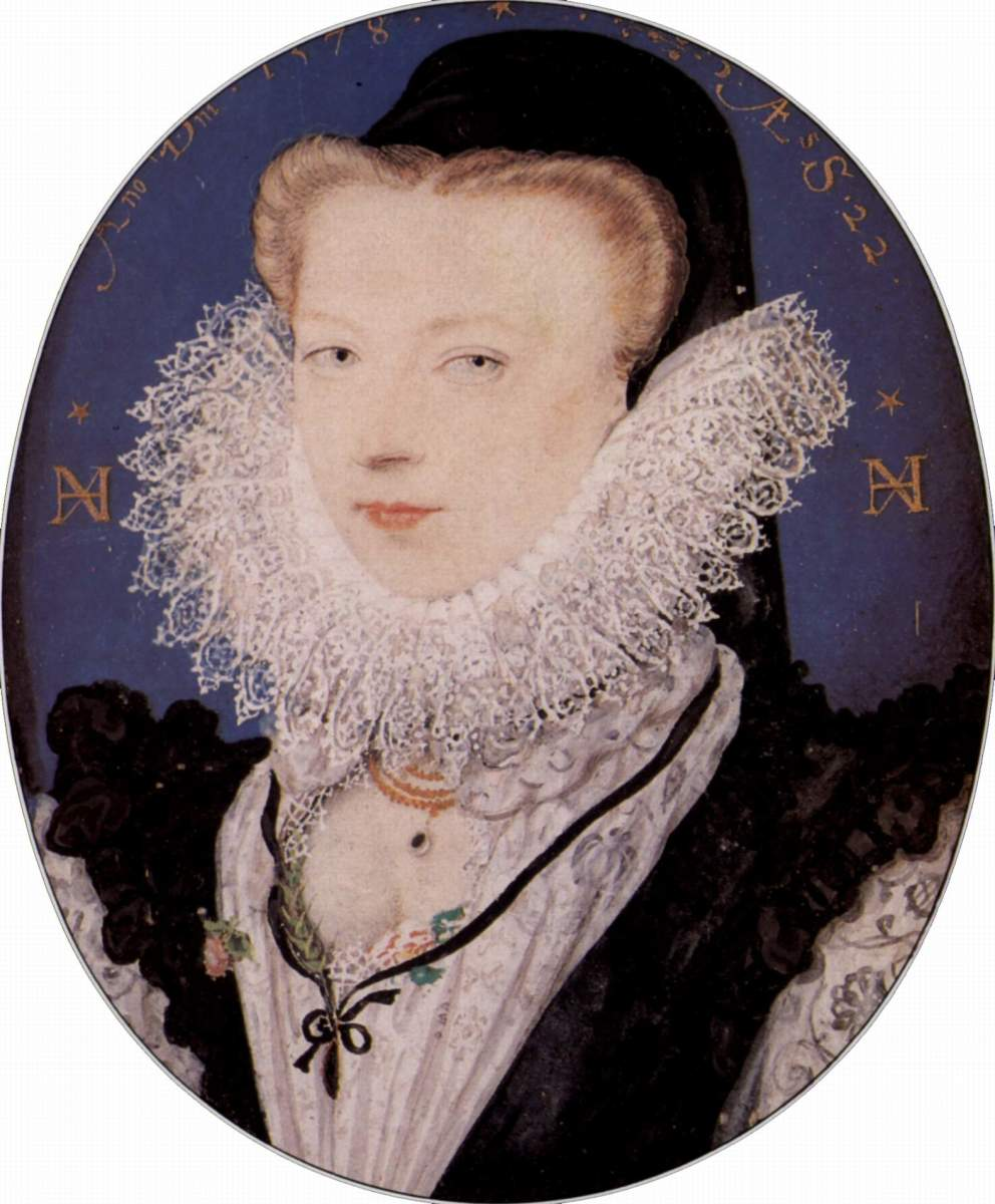 Elizabethan woman wearing lace ruff