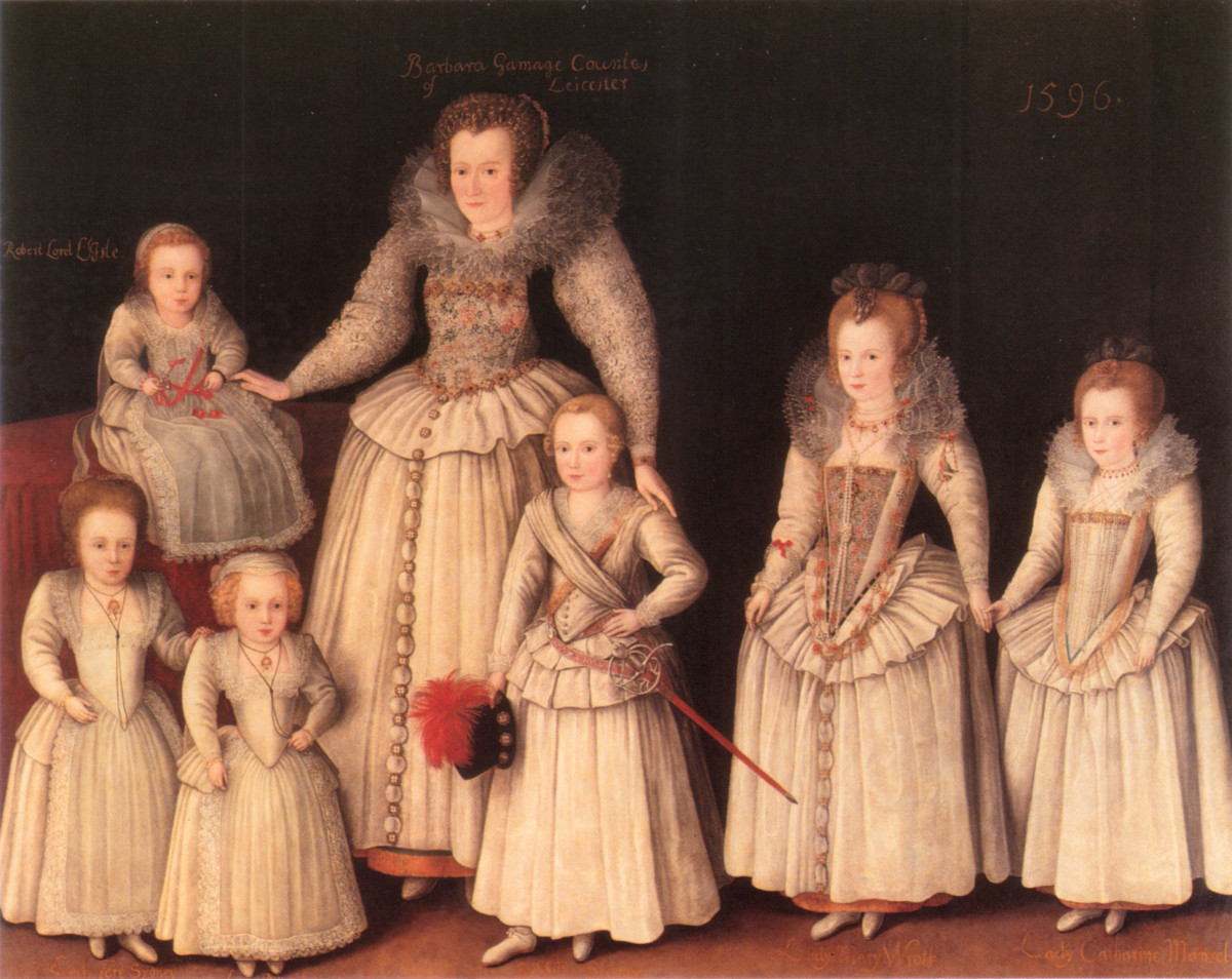 Children were dressed as adults for special occasions and in portraits.