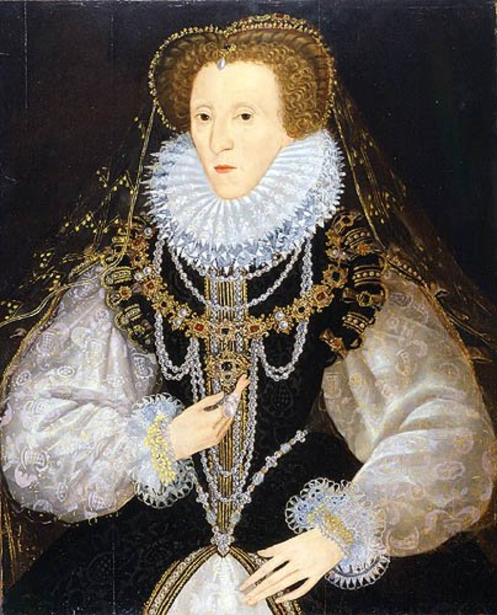 Queen Elizabeth in attifet and ruff