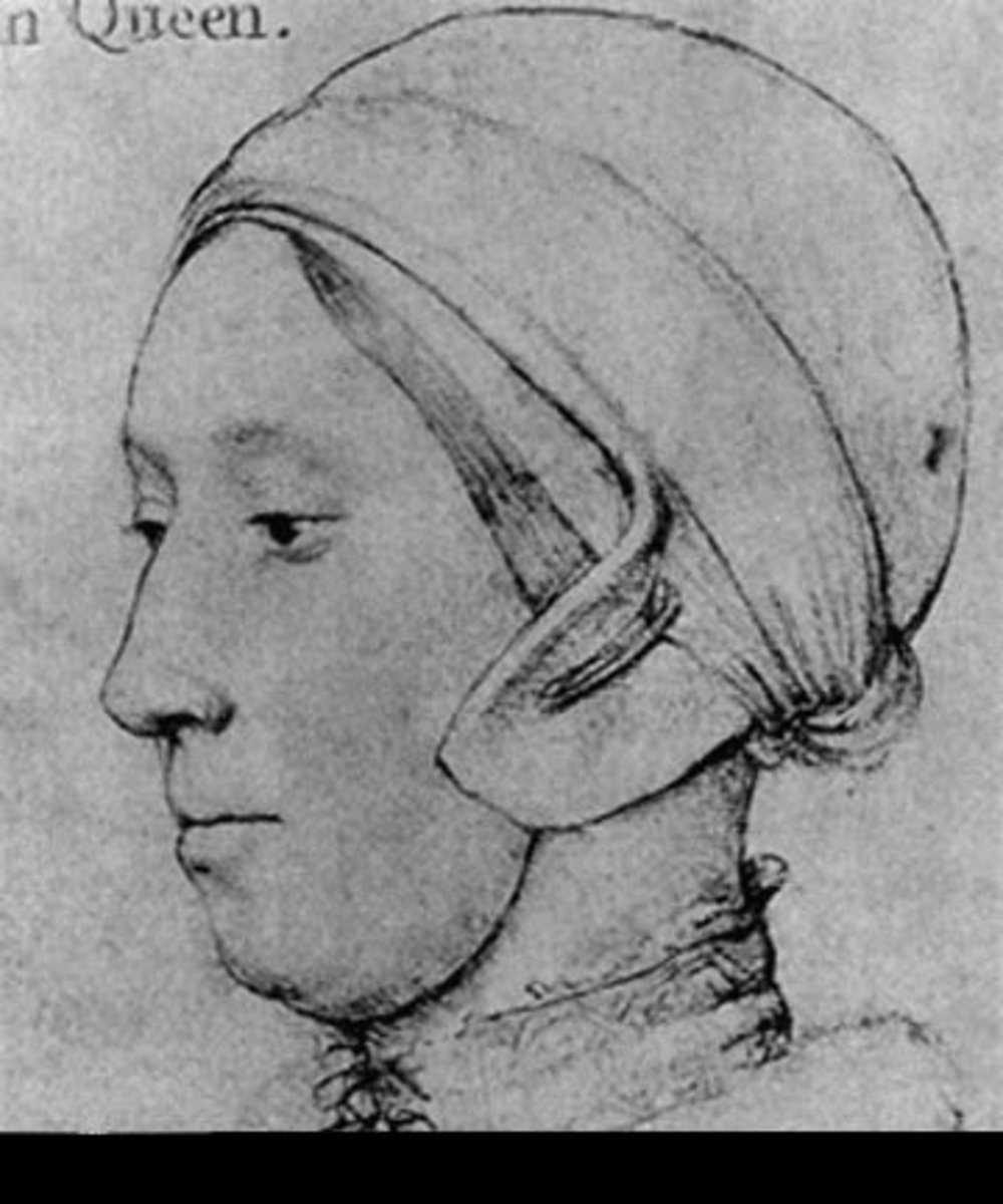 Woman wearing coif