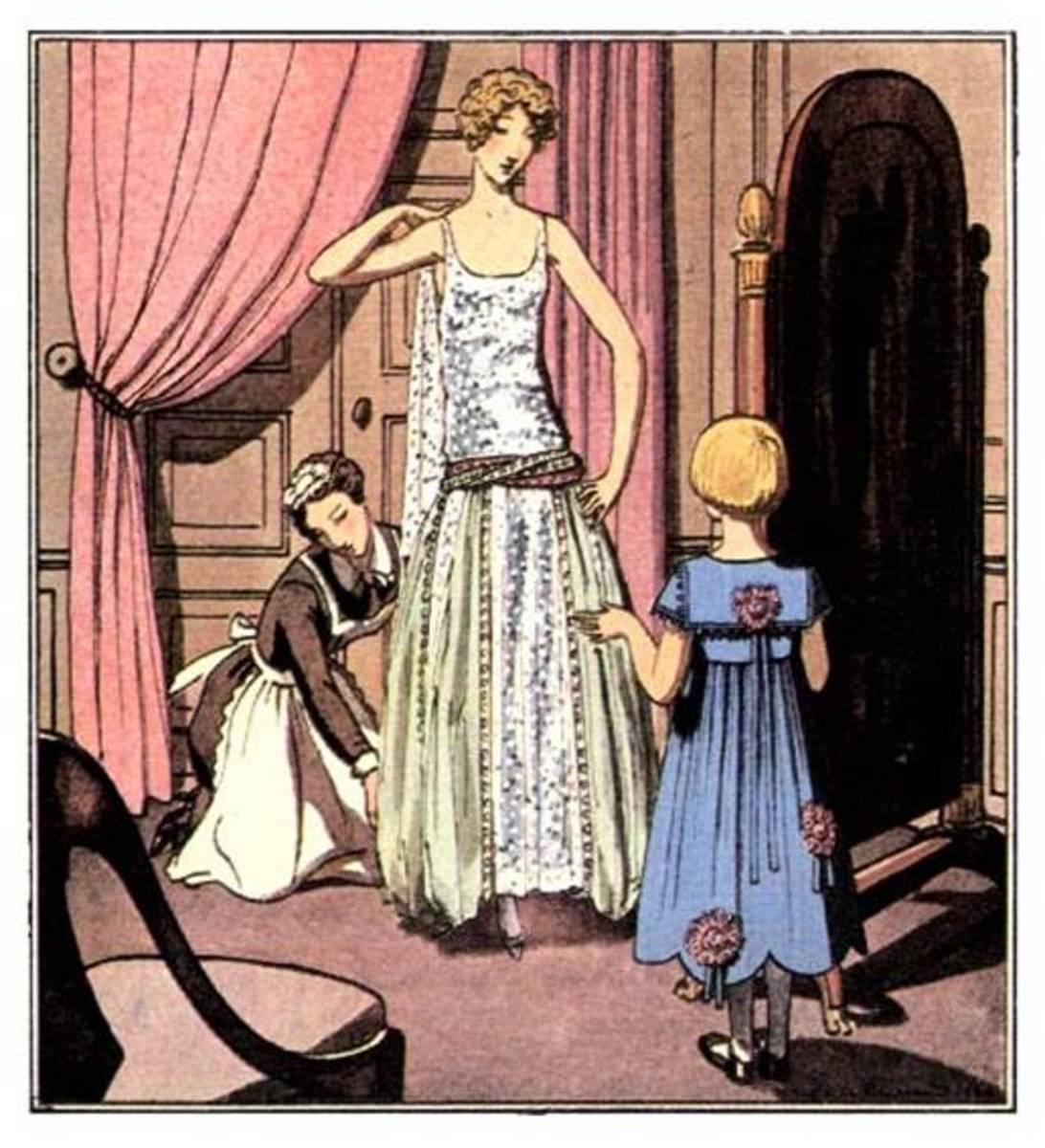 1920s Formal Wear Women 1920 evening dress - lavin