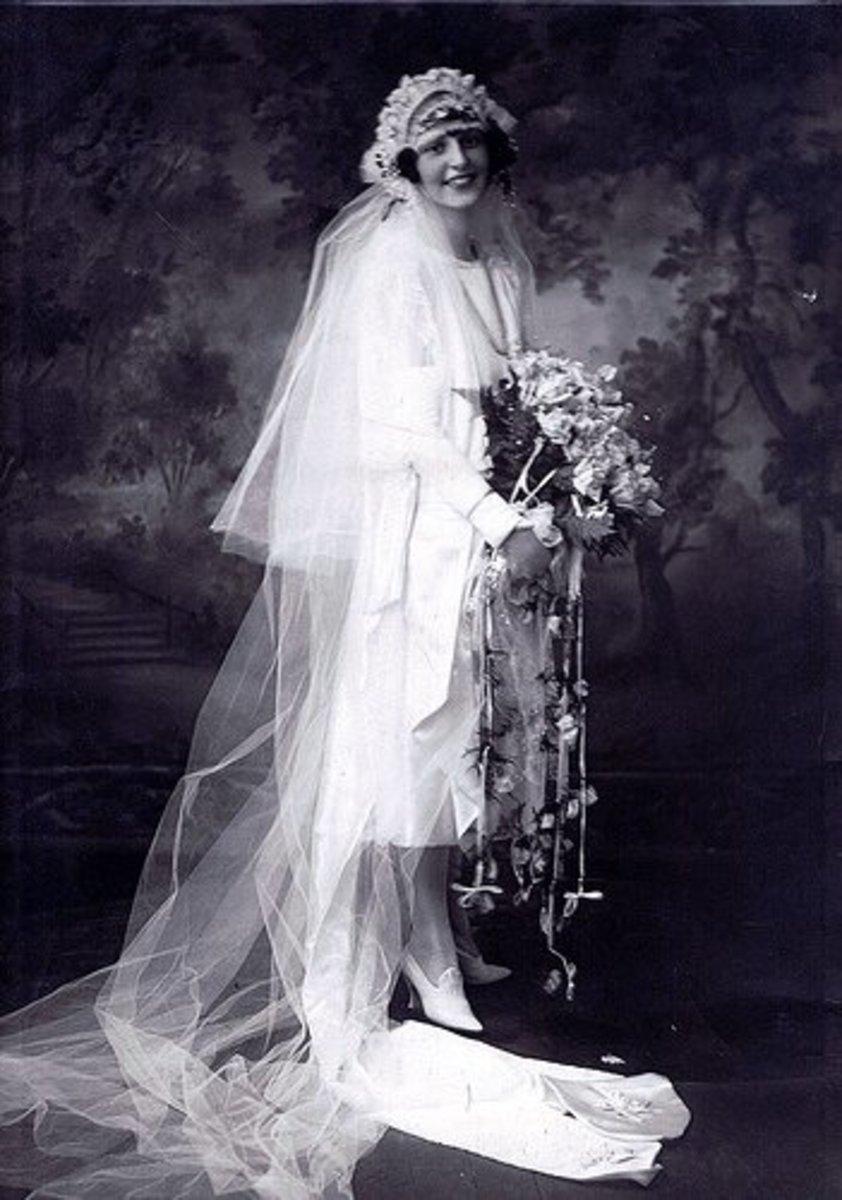 A 1920s bride.