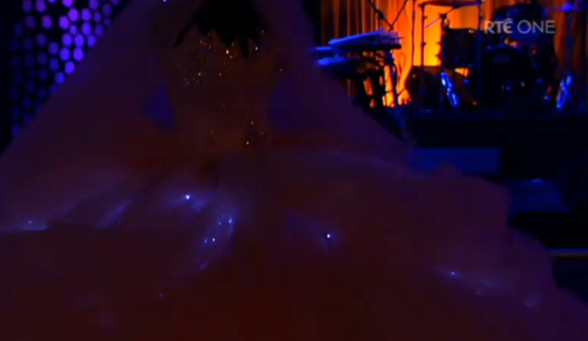 The dress - it glows!