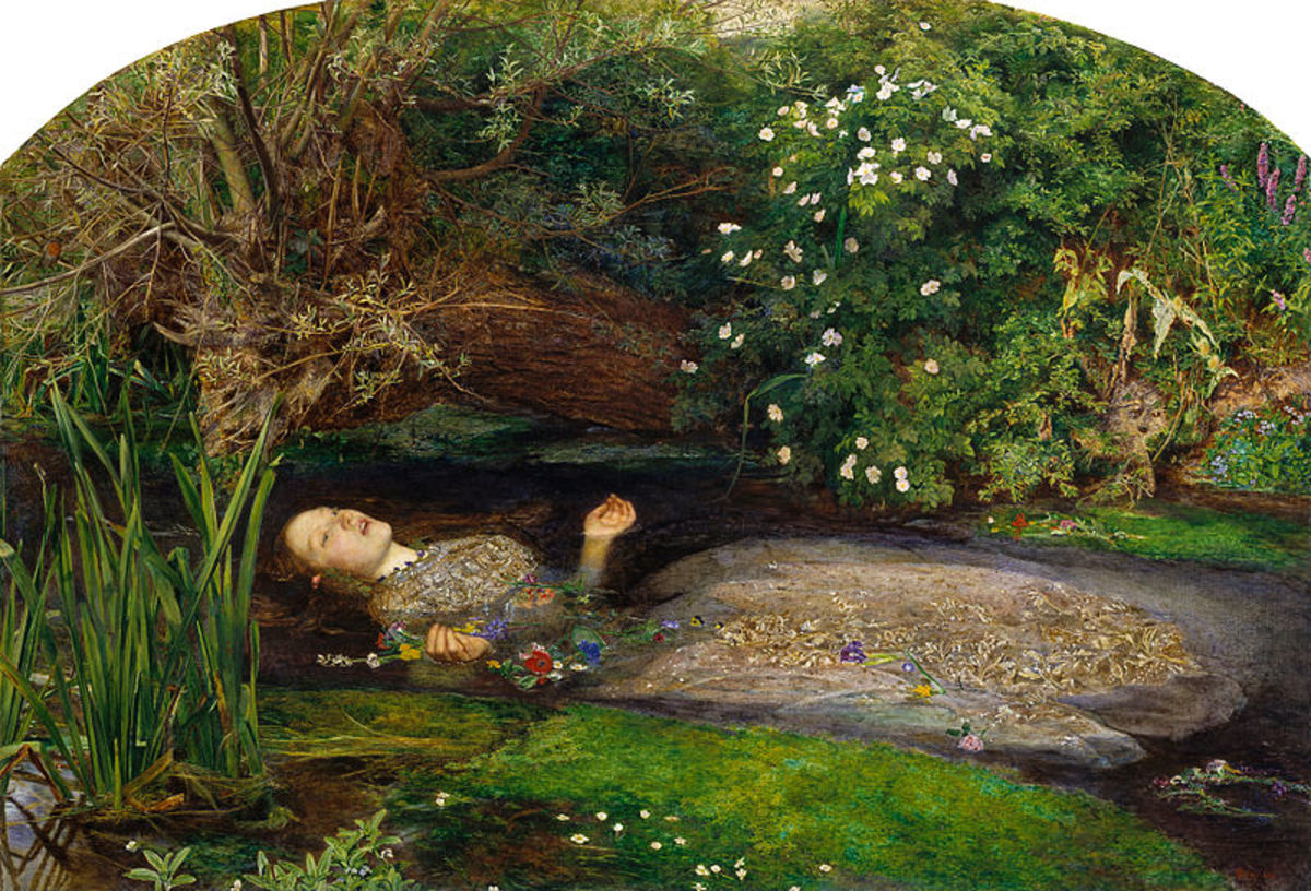 Elizabeth Siddel modeled for the Death of Ophelia in this 1851 painting by Millias