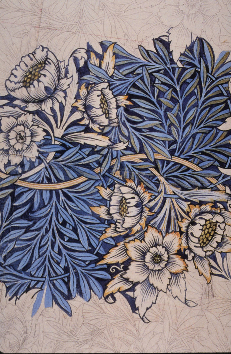 Printed fabric by William Morris