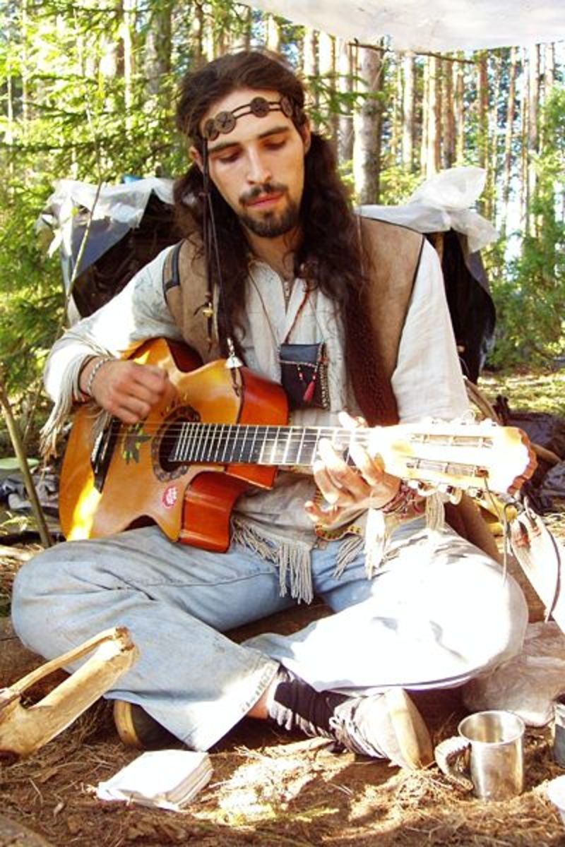 Hippie at the Rainbow Gathering