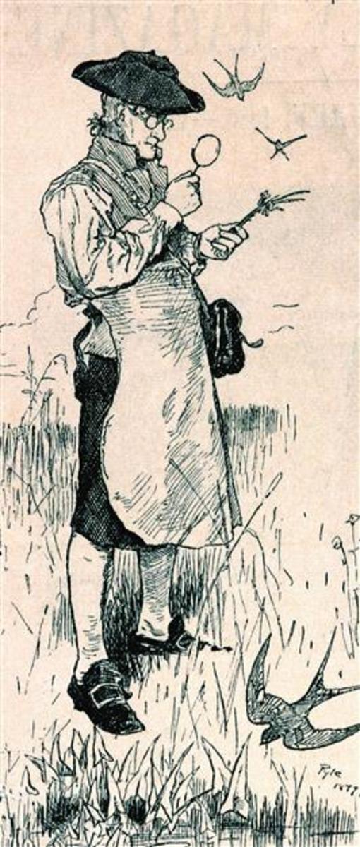 Early American Botanist John Bartram Wearing an Apron